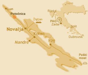 Karta dalmacija Nov zemljevid